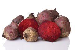 Beets on white Royalty Free Stock Images