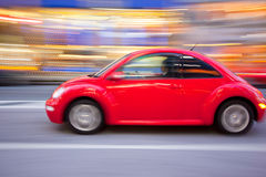 Beettle car bug in motion Stock Image