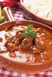 Beew stew eller goulash royaltyfri fotografi