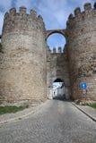 Befästning i den Evora staden Alentejo portugal Arkivfoton