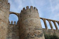Befästning i den Evora staden Alentejo portugal Royaltyfri Foto