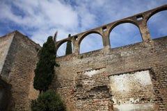 Befästning i den Evora staden Alentejo portugal Fotografering för Bildbyråer