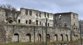 Befästning som bygger den Chortkiv slotten Arkivfoton