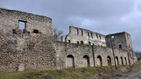 Befästning som bygger den Chortkiv slotten Royaltyfria Foton