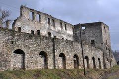 Befästning som bygger den Chortkiv slotten Royaltyfri Foto