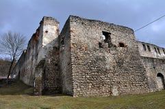 Befästning som bygger den Chortkiv slotten Arkivbild
