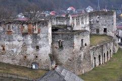 Befästning som bygger den Chortkiv slotten Royaltyfri Bild