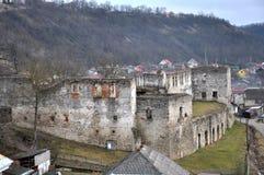 Befästning som bygger den Chortkiv slotten Fotografering för Bildbyråer