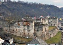 Befästning som bygger den Chortkiv slotten Royaltyfri Fotografi