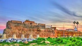 Befästningar av den portugisiska staden av Mazagan i El-Jadidia, Marocko arkivbilder
