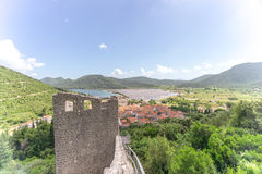 Befästningar av Ston Arkivbild