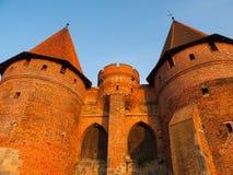 Befästningen står högt i Malbork Arkivbilder
