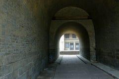 Befästningvägg av den gamla staden, porslin royaltyfria bilder