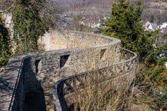 Befästningvägg i dåliga Muenstereifel Arkivfoton