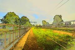Befördert außer Betrieb mit der Eisenbahn lizenzfreie stockfotografie
