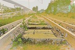 Befördert außer Betrieb mit der Eisenbahn stockbild