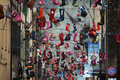 Befana stocking Royalty Free Stock Images