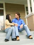 Befassen mit neuem Haus Lizenzfreie Stockfotografie