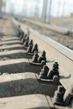 Befestiger der Schienen lizenzfreies stockfoto