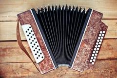 Befestigt Akkordeon stockbilder