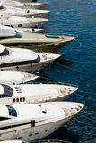 Befestigte Luxuxyachten Stockfoto