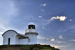 Befestigung des Punkt-Leuchtturmes in PortMacQuarie Stockfoto