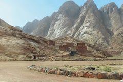 Befestigung in Wüste in Ägypten Stockbilder