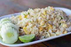 Befestigungsklammer-gebratener Reis Stockbild