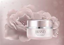 Befeuchtender kosmetischer Produkte Promo Lizenzfreie Stockfotos