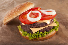Beff burger Royalty Free Stock Photo