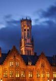 Beffroi à Bruges flanders belgium image libre de droits