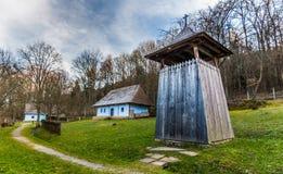 Beffroi au musée d'air ouvert dans la station thermale de Bardejov Photo libre de droits