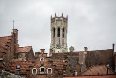 Beffroi de Bruges, Belgique Photographie stock