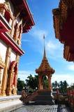 Beffroi de vue dans le temple de la Thaïlande Images stock
