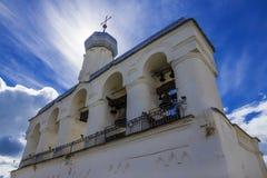 Beffroi du Novgorod Kremlin, Russie Photographie stock libre de droits