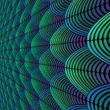 Befjädra utformad bakgrund med krökta linjer som utformas som exotisk fågelfjäderdräktmodell Royaltyfri Foto