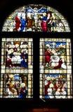 Befläcka det Glass fönstret av Kirk av den St Nicholas kyrkan, Aberdeen, Skottland Royaltyfri Bild