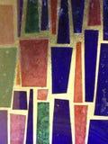 befläckt colorfullexponeringsglas Royaltyfria Bilder