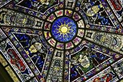 befläckt färgrikt exponeringsglas Royaltyfri Bild