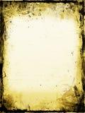 befläckt gammalt papper Arkivfoto