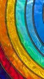 befläckt glass regnbåge Arkivbilder
