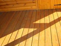 befläckt golvfarstubro Arkivfoto