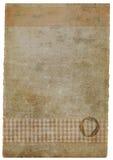 befläckt handgjort paper stycke för grunge Arkivfoto