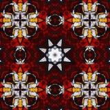 befläckt helig kaleidoscope för 2 exponeringsglas Arkivfoton