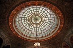 befläckt kupolexponeringsglas Royaltyfria Bilder