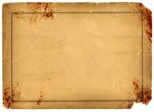 Blod pappers- befläckt antik Parchment Arkivbilder