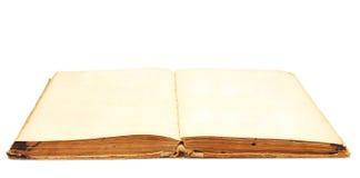 befläckte gammala sidor för blank bok yellow Arkivfoton