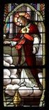befläckte glass jesus Arkivbild