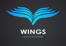 Beflügelt Logovektor Lizenzfreie Stockfotos
