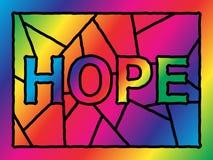 befläckt glass hope Arkivfoto